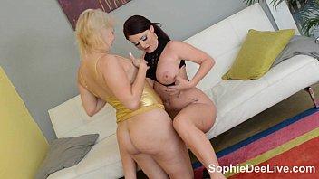 Busty Brit Sophie Dee Golden Babe Lesbian Hookup