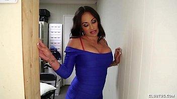 Busty Latina Gloryhole Handjob