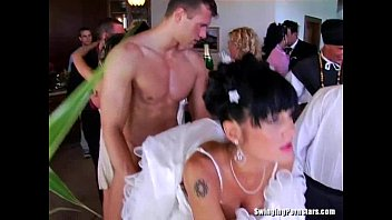 Whores suck and fuck at a wedding