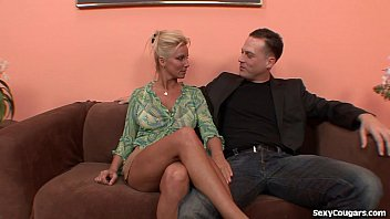Horny Blonde MILF Can't Get Enough Dick
