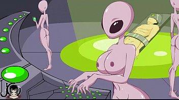 Busty alien porn - blowjob handjob and cumshot