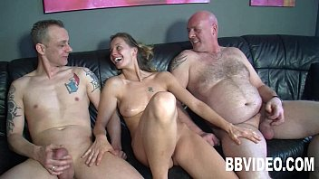 Tattooed german whore gets double fucked 8 min