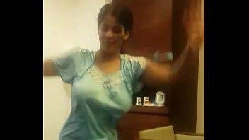 Indian Wife Dancing in hotel room