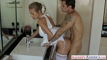 Sexy blonde bride Nicole Aniston fucking 8 min