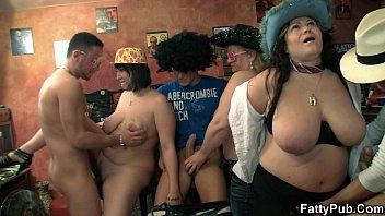Hot plump group orgy