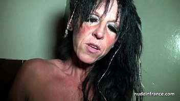 Big boobed amateur french mom hard banged in a sex-shop basement 25 min