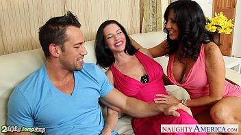 Brunettes Tara Holiday and Veronica Avluv sharing cock
