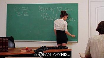 Capri Anderson makes your teacher fantasy a reality - FantasyHD