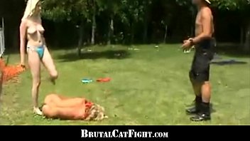 Girls friendship finishes with a wild catfight and threesome