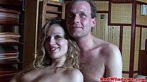 Closeup dutch hooker showing her creampie