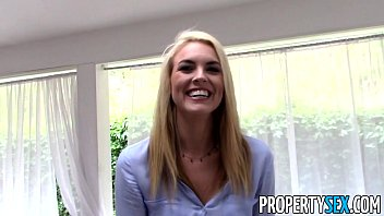 PropertySex - Tricking gorgeous real estate agent into homemade sex video 15 min