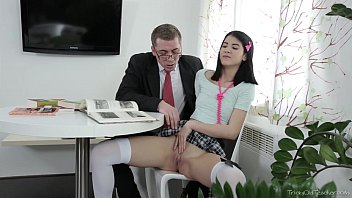 Tricky Old Teacher -  Jody played with her pussy