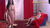 18yo teen boy gets first striptease from kinky MILF
