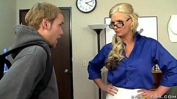 Blonde teacher like a anal sex 8 min
