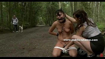 Whore tied does humiliating things