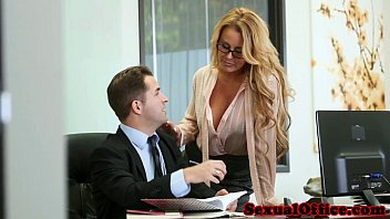 Office secretary gets cum on tits 10 min