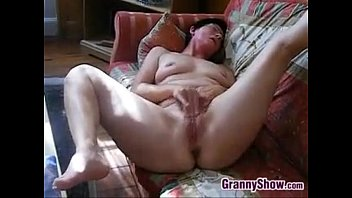 Horny Granny Rubs Her Clit And Pussy 3 min