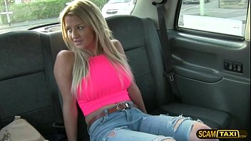 Gorgeous Sienna is pounded in the taxi by the hunk taxi driver