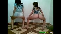 Cute Brazilian Girls Twerking At Home 2 min