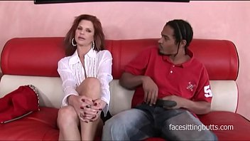 Magazine salesman can't resist this horny gilfs smooth moves or her rack