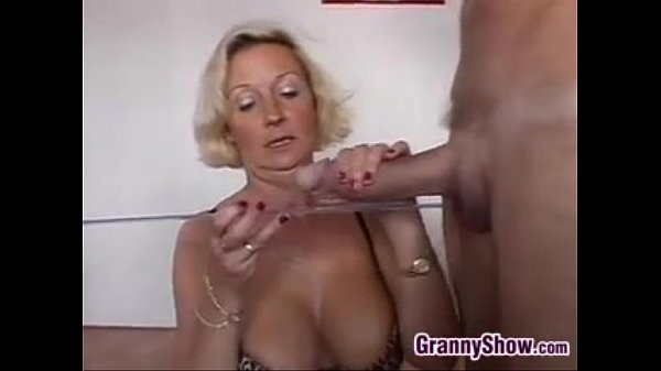 Horny Grandma With Two Cocks In A Threesome