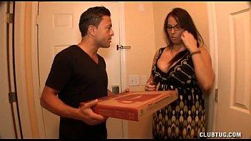Busty Milf Jerking Off The Pizza Boy