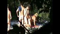 Horny fat granny fucked by strangers at nude beach