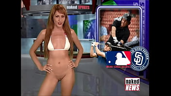 Naked News Compilation - Rachel Simmons takes her clothes off 2/3 52 min