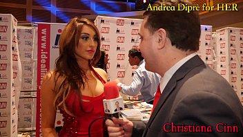Christiana Cinn gives a blowjob lesson for Andrea Diprè