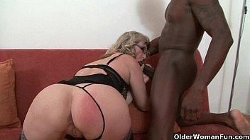 Depraved milf devours a black cock
