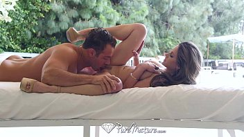 PureMature - Hot MILF Rachel Roxxx oils up by the pool