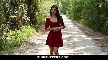 PunishTeens - Petite Teen (Gina Valentina) Dominated and Fucked Hard