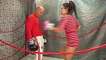 UNDERGROUND LUCHA XXX HARDCORE INTERGENDER Belly Punching Match Man vs Women see full video here www.clips4sale.com/89258 KING of INTERGENDER SPORTS