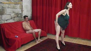 Busty MILF agent whore seduces a shy beginner guy 8 min