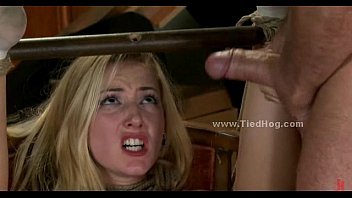 Blonde to fuck in extreme deepthroat and bondage perversion video