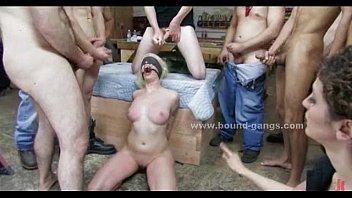 Slut fetish rough bondage gang bang