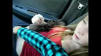 College GF fingered in car