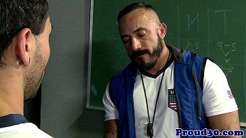Mature coach assfucking lockerroom stud