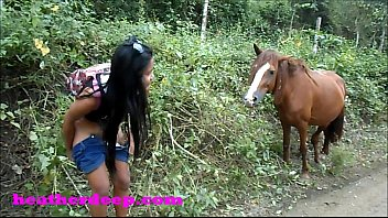 Onlyfans.com/heatherdeep Heather Deep 4 wheeling on scary fast quad and Peeing next to horses in the jungle youtube version
