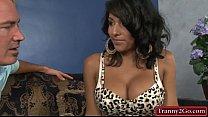 Big boobs tranny Jane Marie anal railed
