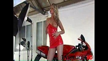 Hot Blonde Biker Chick