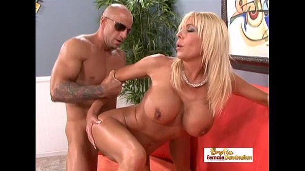 Amazing blonde uses her big tits to make a dick hard