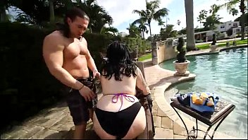 Sexy Plump Marilyn Mayson Gets Oiled and Fucked by Pool
