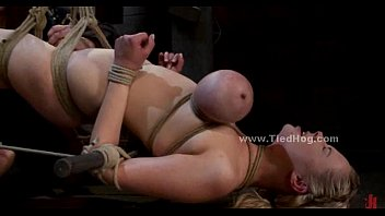 Blonde sex slave with large breasts
