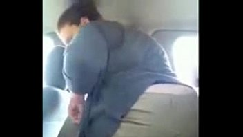 White BBW Flashes Her Pretty Butthole in Public Parking Lot