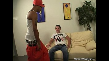 White twink gets a black dong up his ass