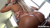 Big Tittied Tgirl Camyle Victoria Jerks Off
