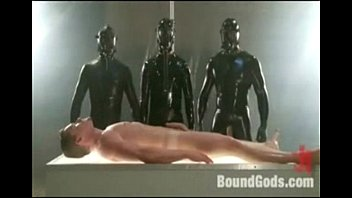 Alien abduction play with fisting and semen extraction