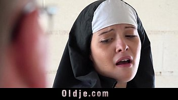 Old man makes young monastery nun fornicate 6 min