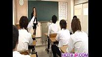 Sakura Hirota has hairy slit fucked at school